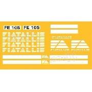 Kit Adesivos Fiatallis Fe 105