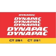 Kit Adesivos Dynapac Ct251