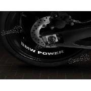 Adesivos Centro Roda Refletivo Moto Bmw Power Rd6