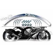 Kit Adesivo Friso Refletivo Roda Moto Bmw Fri07