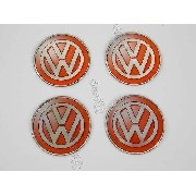 Adesivo Emblema Roda Resinado Volkswagen 51mm Vermelho Cl26