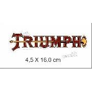 Adesivo Triumph Resinado 4,5x16 Cms Rs08