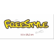 Adesivo Emblema Freestyle Resinado Amarelo Rs07