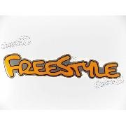Adesivo Emblema Freestyle Resinado Laranja Rs08