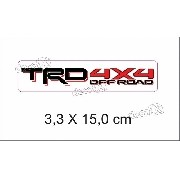 Emblema Adesivo Resinado Toyota Trd 4x4 Off Road Rs09