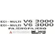 Kit Emblema Adesivo Mitsubishi Pajero 3000 Gls-b V6002