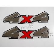 Emblema Adesivo 4x4 Ford Ranger 2010 Preta Par 4410pt