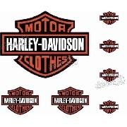 Adesivo Capacete Harley Davidson Clothes Refletivo Ktcp60