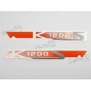 Emblema Adesivo Bmw K1200s Em Vermelho Par Bmwk1200l