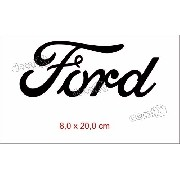 Adesivo Ford Resinado Em Preto 8x20 Cms Ford