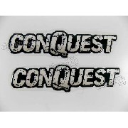 Adesivo Emblema Montana Conquest Resinado Kit Par Mtcr02