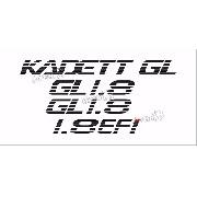 Adesivo Chevrolet Kadett Gl 1.8 Efi Kdtgl18