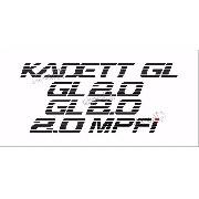 Adesivo Chevrolet Kadett Gl 2.0 Mpfi Kdtgl20