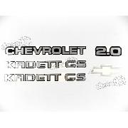 Adesivo Chevrolet Kadett Gs 2.0 Kdtgs20