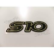 Emblema Adesivo Resinado Chevrolet S10 Preto S10r01