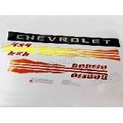 Kit Faixas Adesivos Chevrolet S10 Rodeio 2006 Cd Prata