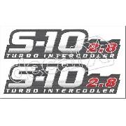 Adesivo Chevrolet S10 2.8 Turbo Intercooler Aco Escovado