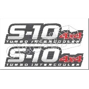 Adesivo Chevrolet S10 4x4 Turbo Intercooler Aco Escovado
