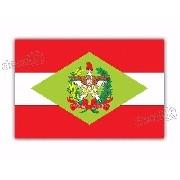 Adesivo Bandeira Santa Catarina Resinado 4x6cm Bd41