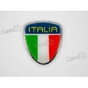 Adesivo Bandeira Italia Resinado 4,5x5,5 Cms Rs27