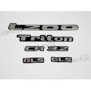 Kit Emblema Adesivo Resinado L200 Triton Cr 3.2 Gls Lt006