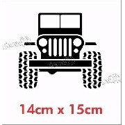 Emblema Adesivo Jeep Willys 6 Camel Jp-car