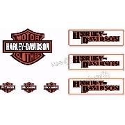 Adesivo Capacete Harley Davidson Clothes Refletivo Ktcp57
