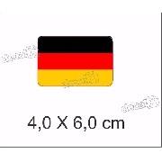 Emblema Adesivo Resinado Volkswagen Bandeira Alemanha Rs03