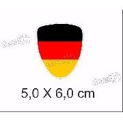 Emblema Adesivo Resinado Volkswagen Bandeira Alemanha Rs04