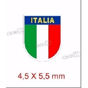 Adesivo Bandeira Italia Resinado 4,5x5,5 Cms Rs13