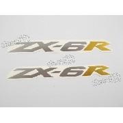 Adesivo Emblema Kawasaki Zx6r Par Zx6r10 Zx 6r