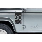 Adesivo Faixa Lateral Bandeira Land Rover Defender 90 Dr43