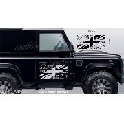 Adesivo Faixa Lateral Bandeira Land Rover Defender Dfndr52