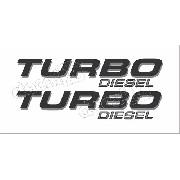 Emblema Adesivo F250 Turbo Diesel Preto/prata Tdslpr