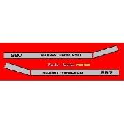 Kit Adesivos Massey Ferguson Mf297 Mod03