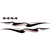 Adesivo Faixa Lateral Suzuki Jimny 4x4 Jmny03