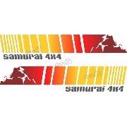 Adesivo Faixa Lateral Porta Suzuki Samurai Smrai08