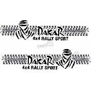Kit Adesivo Faixa Lateral Troller Dakar 2009 Fl006