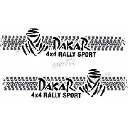 Kit Adesivo Faixa Lateral Troller Dakar 2010 Fl006