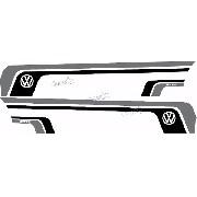 Adesivo Faixa Lateral Volkswagen Polo Racing Polo05