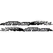 Adesivo Faixa Lateral Nissan Frontier Attack Front10