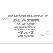 Kit Adesivo Chevrolet Blazer Executive 4.3v6 2007 S10kit6
