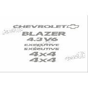 Kit Adesivo Chevrolet Blazer Executive 4.3v6 2007 S10kit6