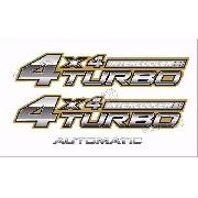 Kit Adesivo Toyota Hilux 4x4 Turbo Intercooler 2007 Kit02