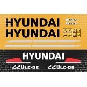 Kit Adesivos Hyundai 220lc-95 200lc95 220 Lc-95 220lcs9