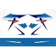 Kit Adesivos Suzuki Gsx 650f Gsx650f 2016 Azul Gsx65001