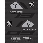 Kit Adesivos Yamaha Mt03 Mt-03 Mt 03 Cinza Mt026