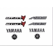 Kit Adesivos Yamaha Mt07 Mt-07 Mt 07 Branca Mt030