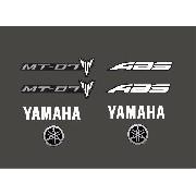 Kit Adesivos Yamaha Mt07 Mt-07 Mt 07 Preta Mt031