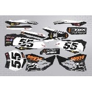 Kit Adesivo Moto Cross Trilha Ktm Fox 2011 0,60mm 3m Mt059